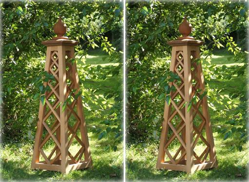 wood obelisk